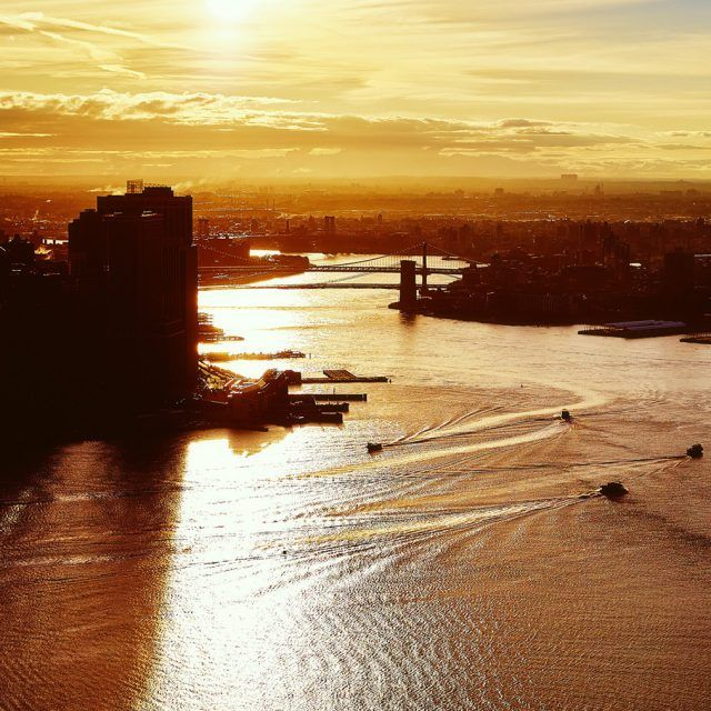 The Urban Lens: Fly over NYC during 'golden hour'