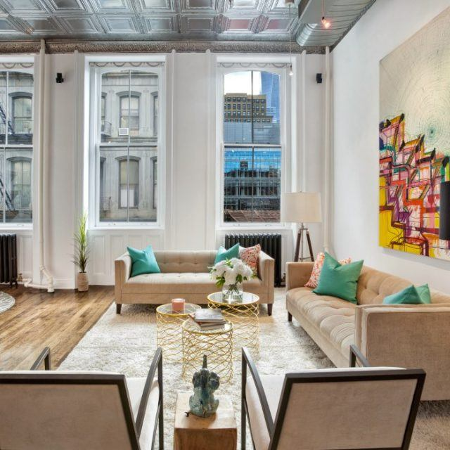 Impressive views of 1 WTC from this $3.6M Tribeca loft apartment