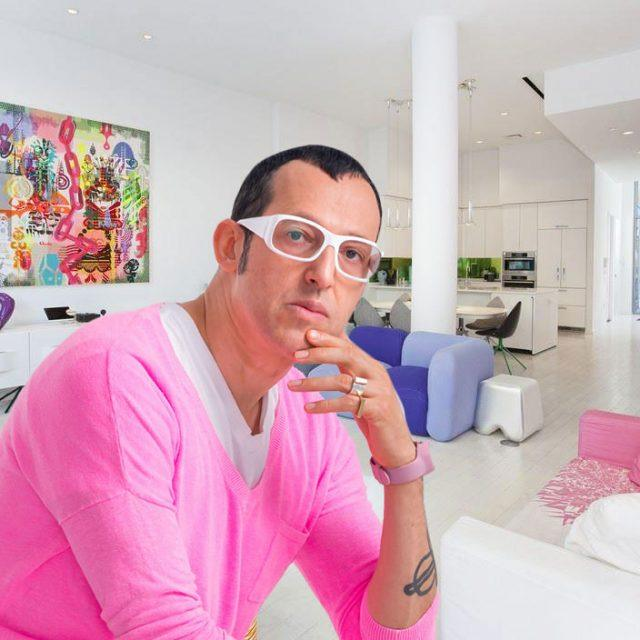 Buy Karim Rashid's sleek Hell's Kitchen condo for $4.75M, candy-colored furniture and art included