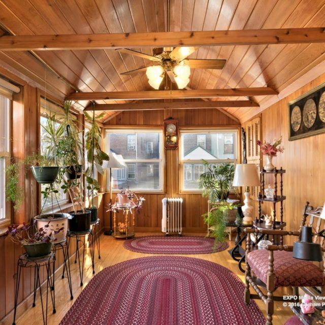 Prospect Lefferts Gardens townhouse with lots of woodwork and sunroom lists for $2.4M