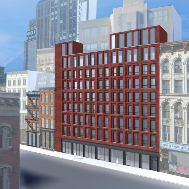 Sad stretch of Canal Street retail may be replaced with this nine-story Passive House