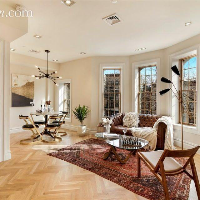 Glamorous modern condo inside a historic Bed-Stuy townhouse asks $855K