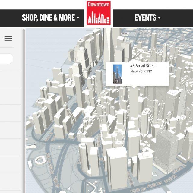 Interactive 3D map of Lower Manhattan updates new developments daily