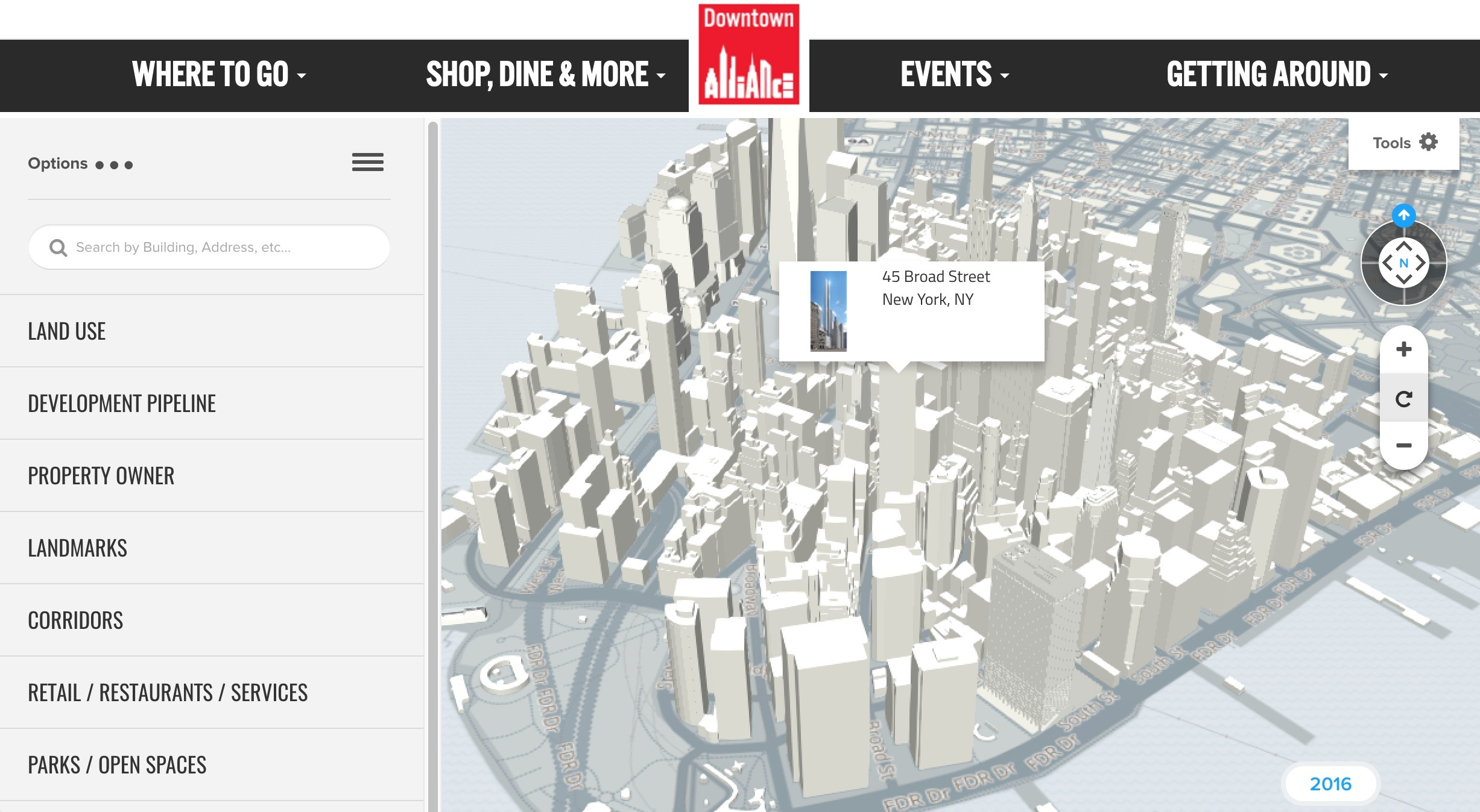 Interactive D Map Of Lower Manhattan Updates New Developments - Nyc map interactive