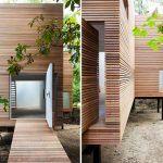 Steven Holl, T Space, art gallery, Dutchess County, wooden shelter