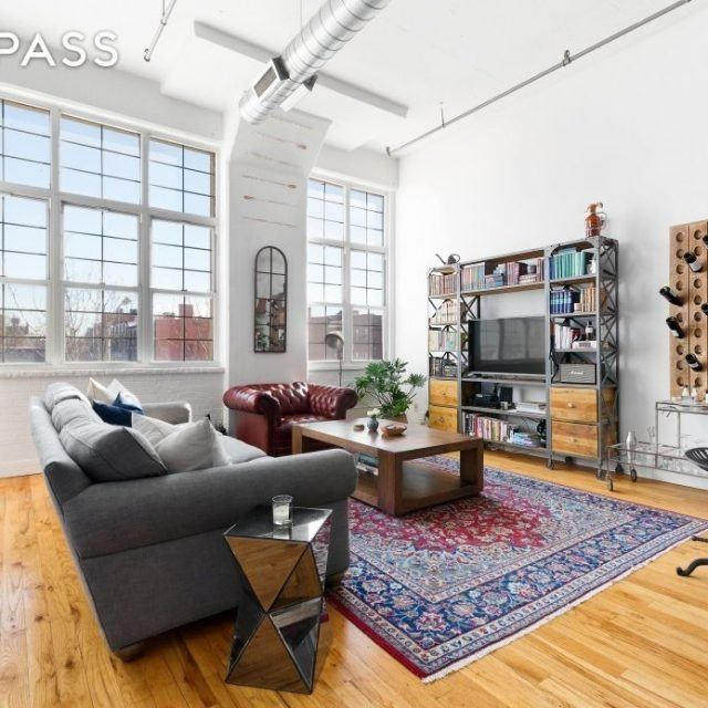 Spacious $860K loft is in a Bed-Stuy building known for its quirky apartments