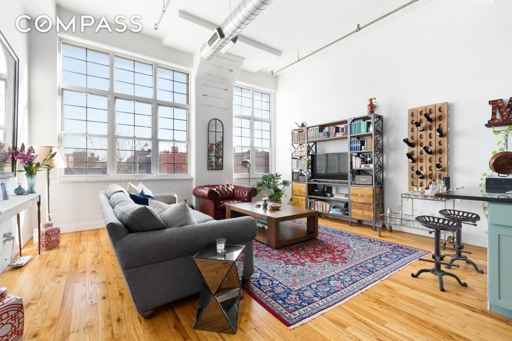 Spacious 860k loft is in a bed stuy building known for its quirky apartments 6sqft for Two bedroom apt in bed stuy area