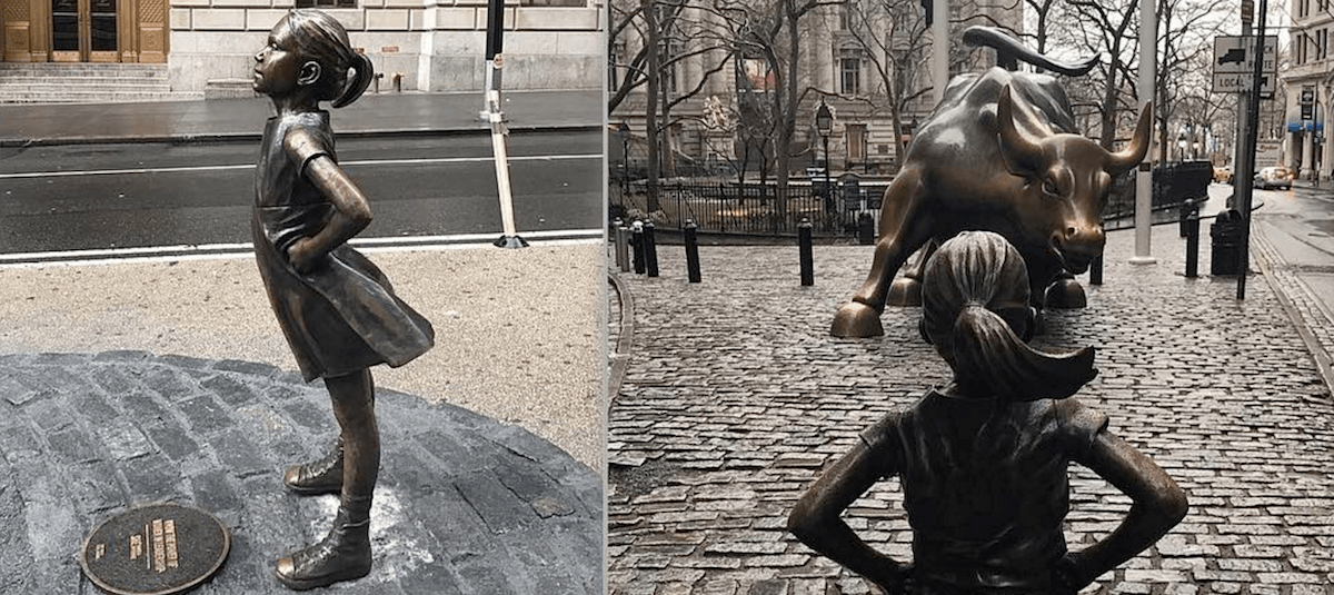 Image result for bull ve fearless girl