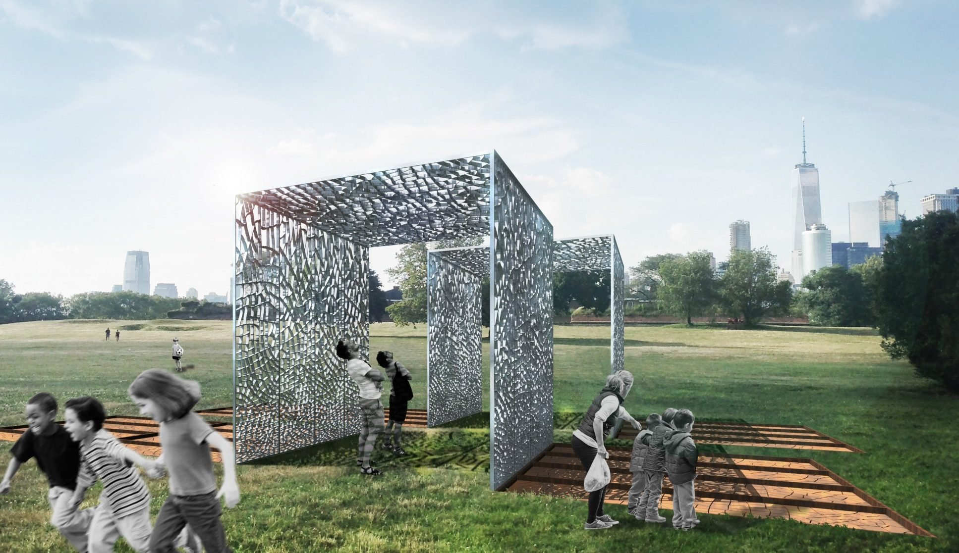 A pavilion created from 300 000 recycled cans is coming to for Design in the city