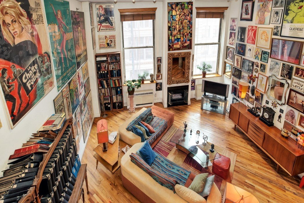 Huge walls show off insane movie memorabilia collection at for 14 wall street 20th floor new york