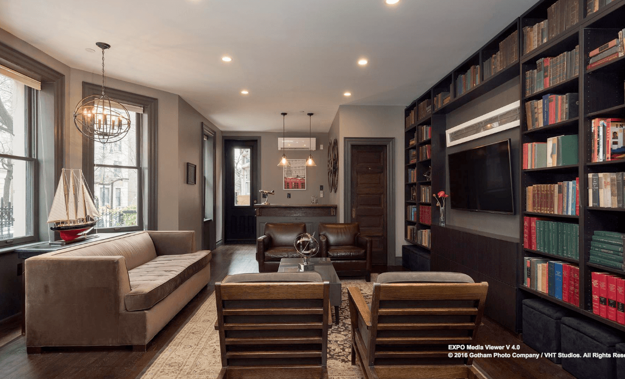 Living Room Bar And Terrace 55m Ask For Renovated Hamilton Heights Mansion Is A New Harlem