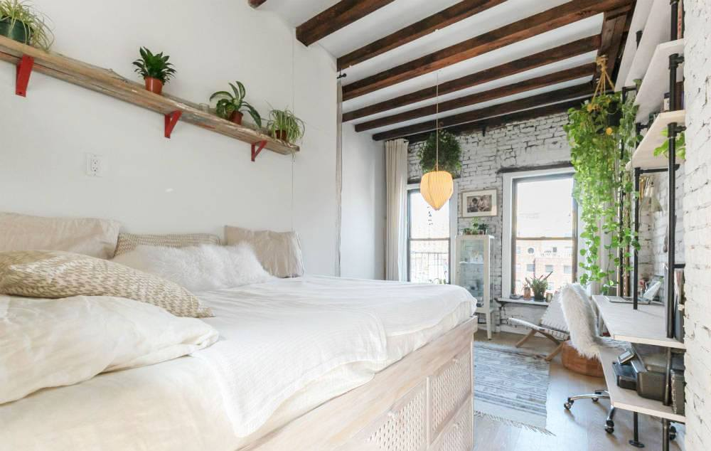 Studio Apartment East Village dreamy furnished studio with lots of greenery asks $3,200/month in