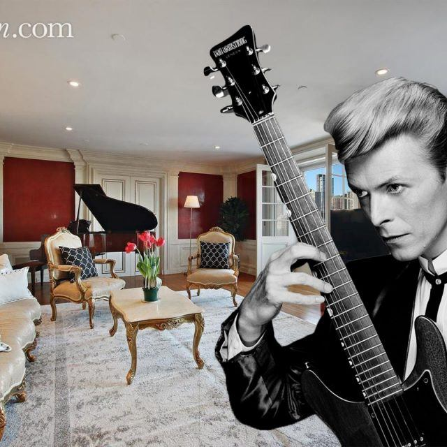 David Bowie's former Central Park South condo lists for $6.5M with his personal piano included