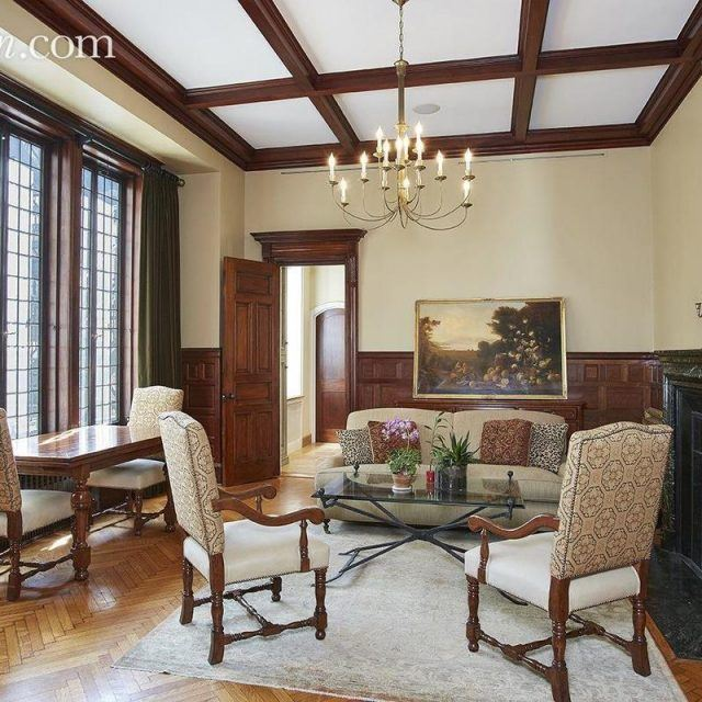 Elegant co-op in an UES mansion still has its original leaded casement windows