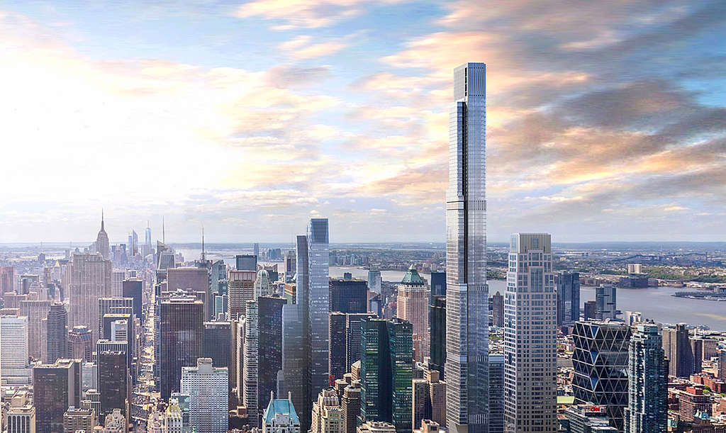 Central Park Tower's completion pushed back a year; murals made from air pollution