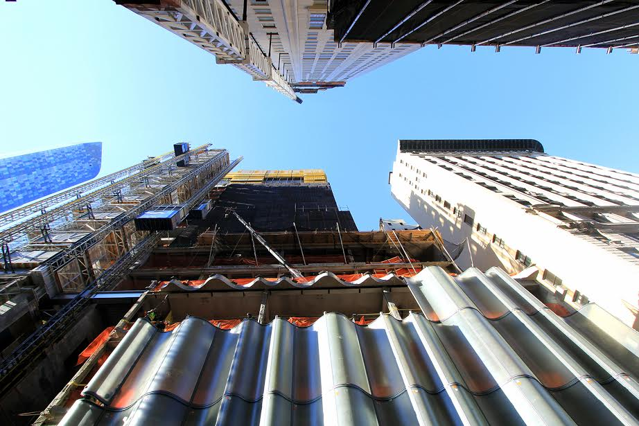 Construction update: Extell's Central Park Tower gets its fluted glass curtain wall