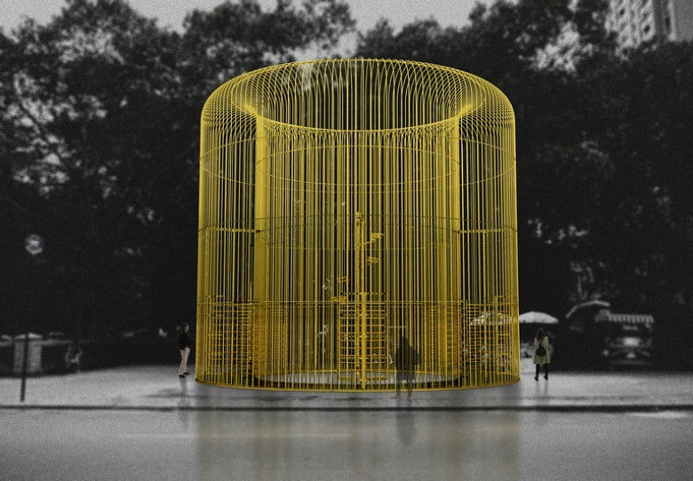 Ai Weiwei will bring over 100 fence art installations to NYC this fall