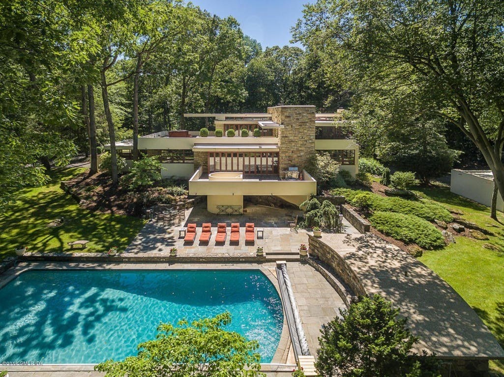 51 Pecksland Road, cool listings, fallingwater, connecticut, modern house, midcentury modern, knockoffs