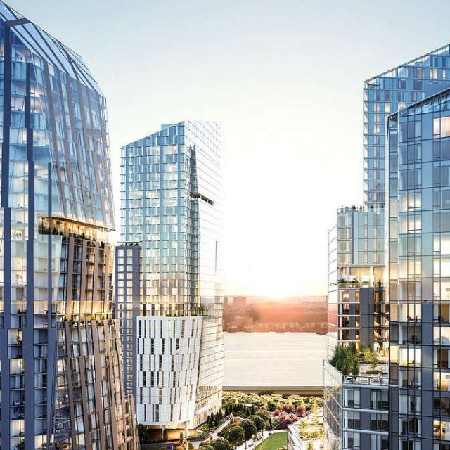 First look at the interiors of Waterline Square's trio of towers