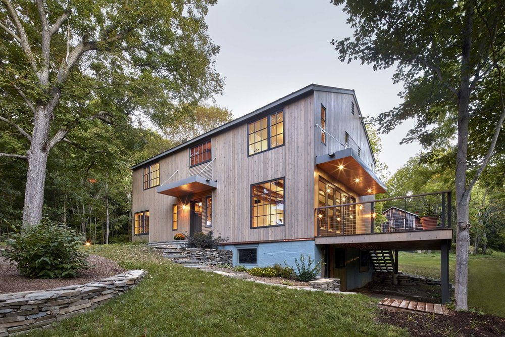 F z design transforms an old upstate farmhouse into a for Modern house upstate ny