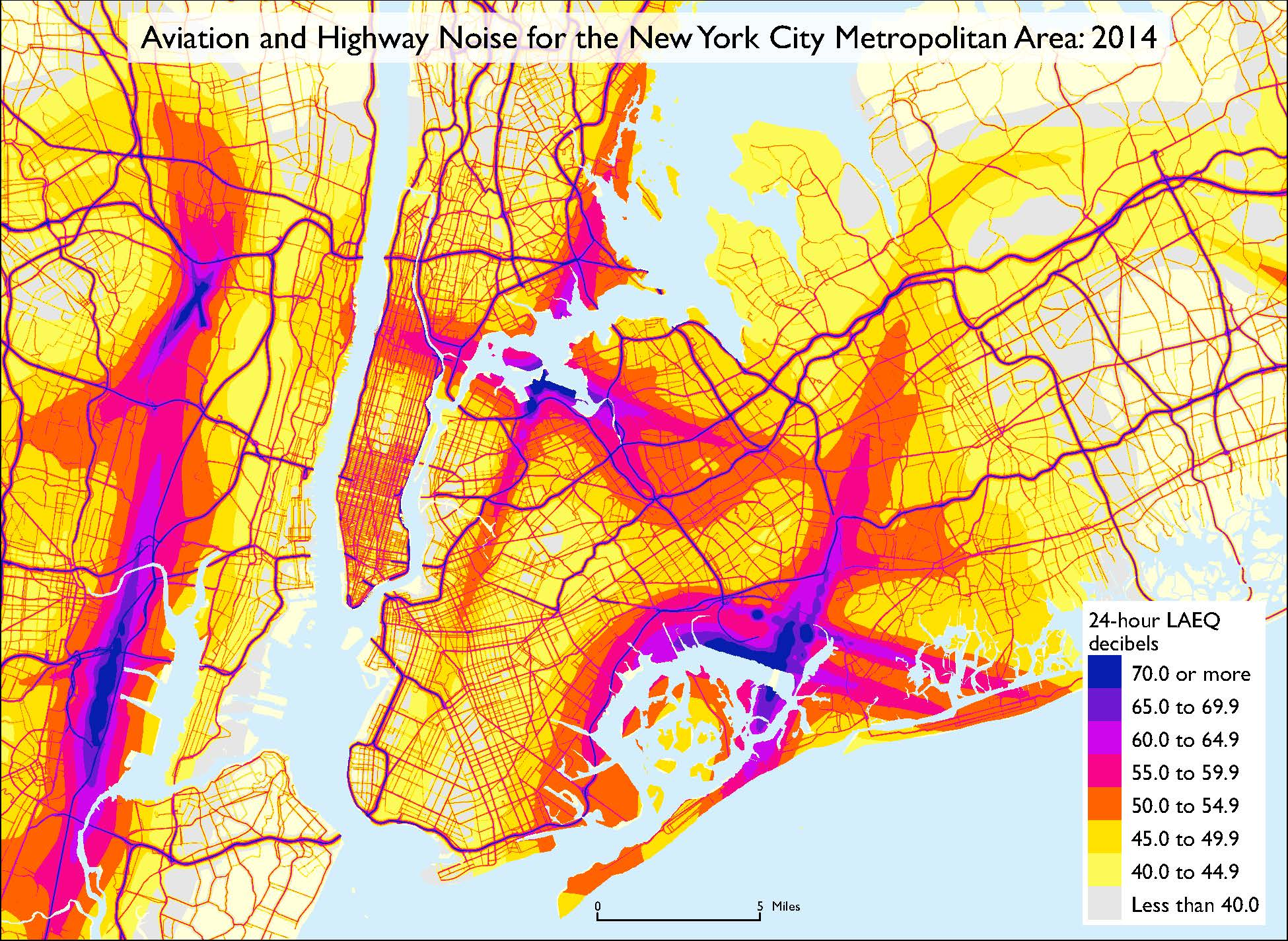 Us Map According To New Yorkers.Noise Pollution Is Worse In Jersey Than Nyc According To New Dot Map