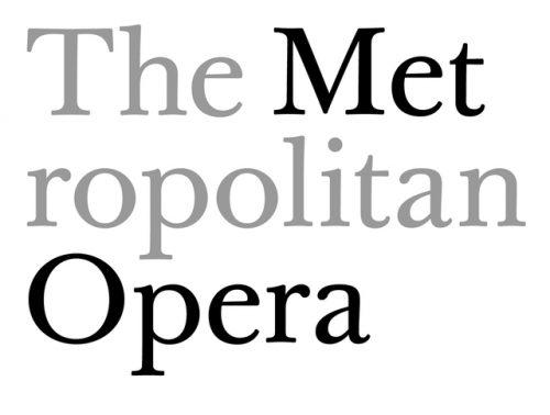 Scher's work for the MET Opera's logo