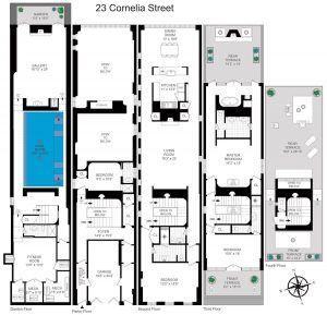 23 Cornelia Street, cool listings, taylor swift, celebrities, west village, carriage houses