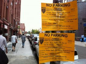No Parking sign, Filmed in NYC, Blue Bloods