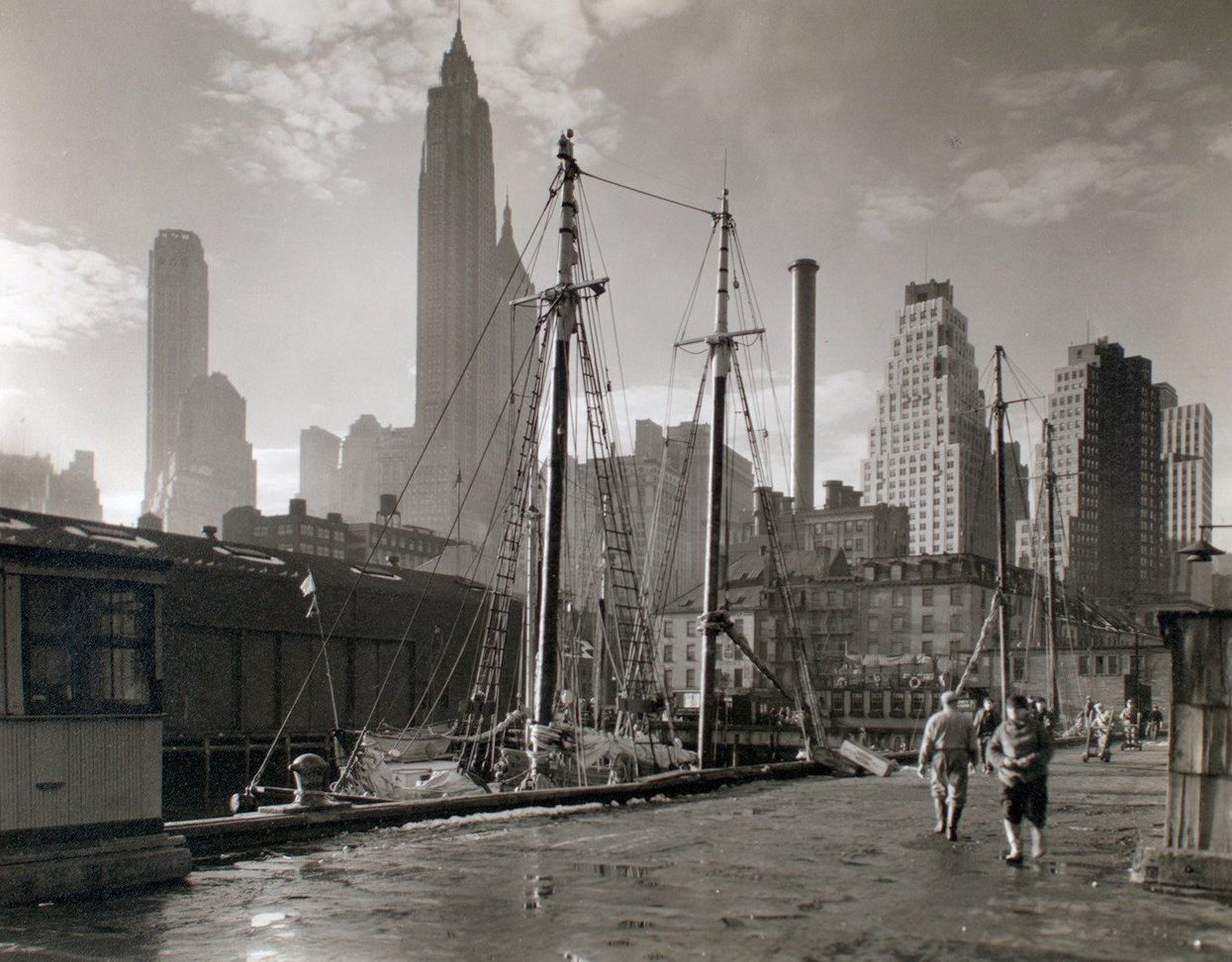 Fulton Street Dock, New York Public Library, 1935 NYC