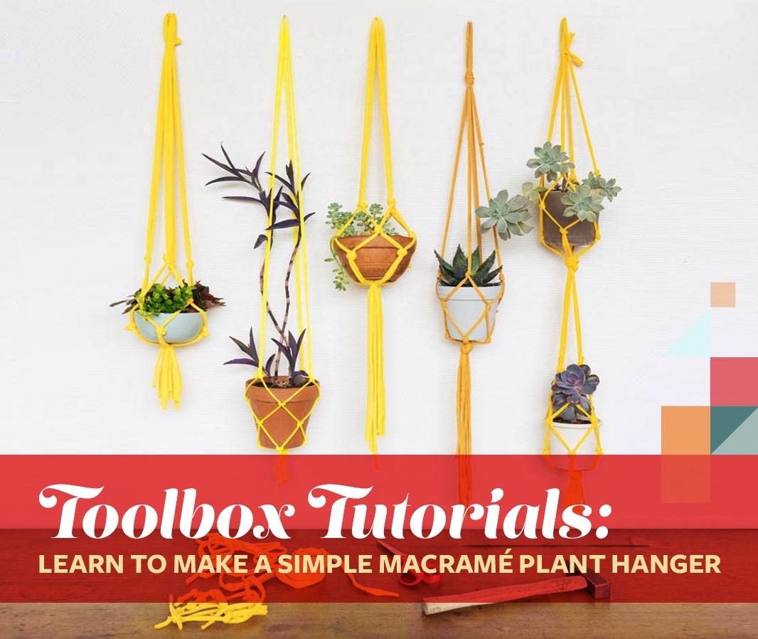 Toolbox Tutorials Learn To Make A Simple Macrame Plant Hanger 6sqft