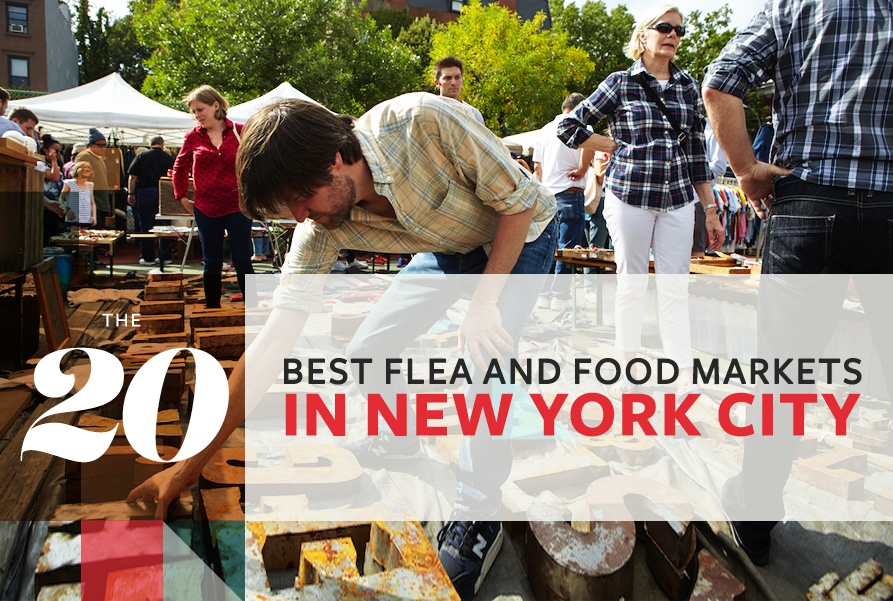 Shop and nosh your way through 20 of NYC's best flea and food markets