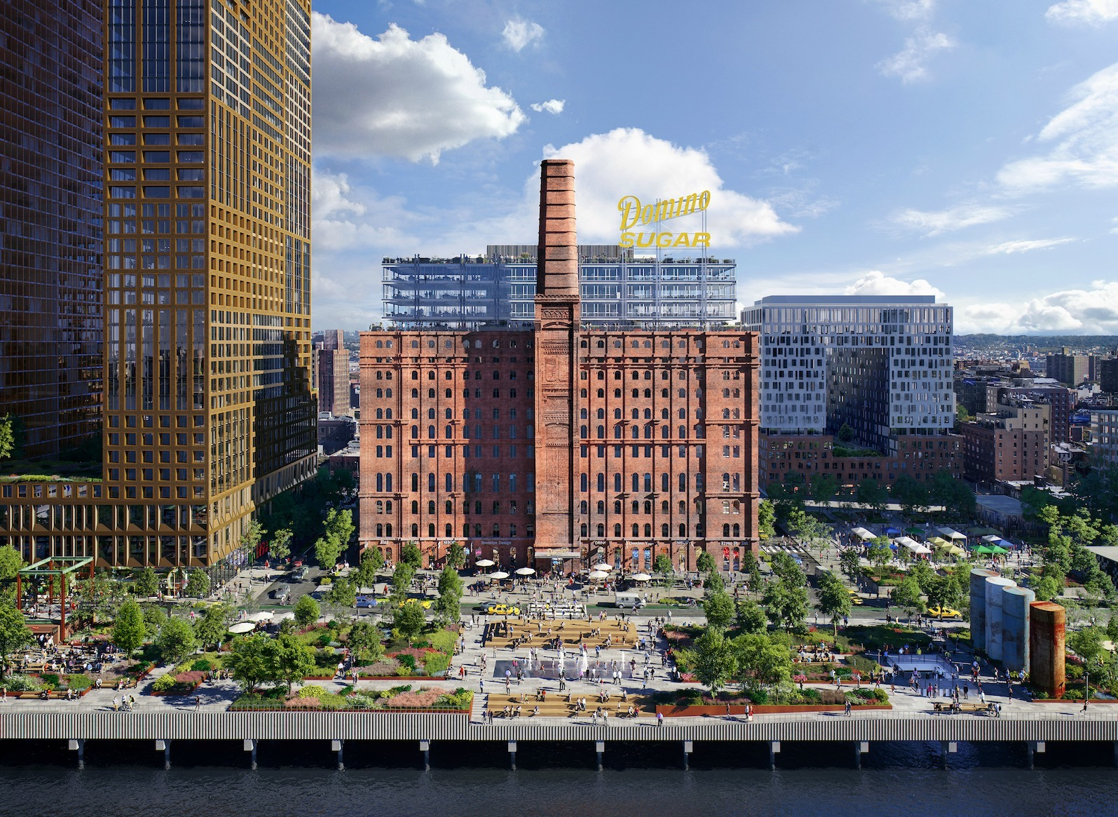 Rendering Of The Under Construction Domino Sugar Factory Development Via Mir