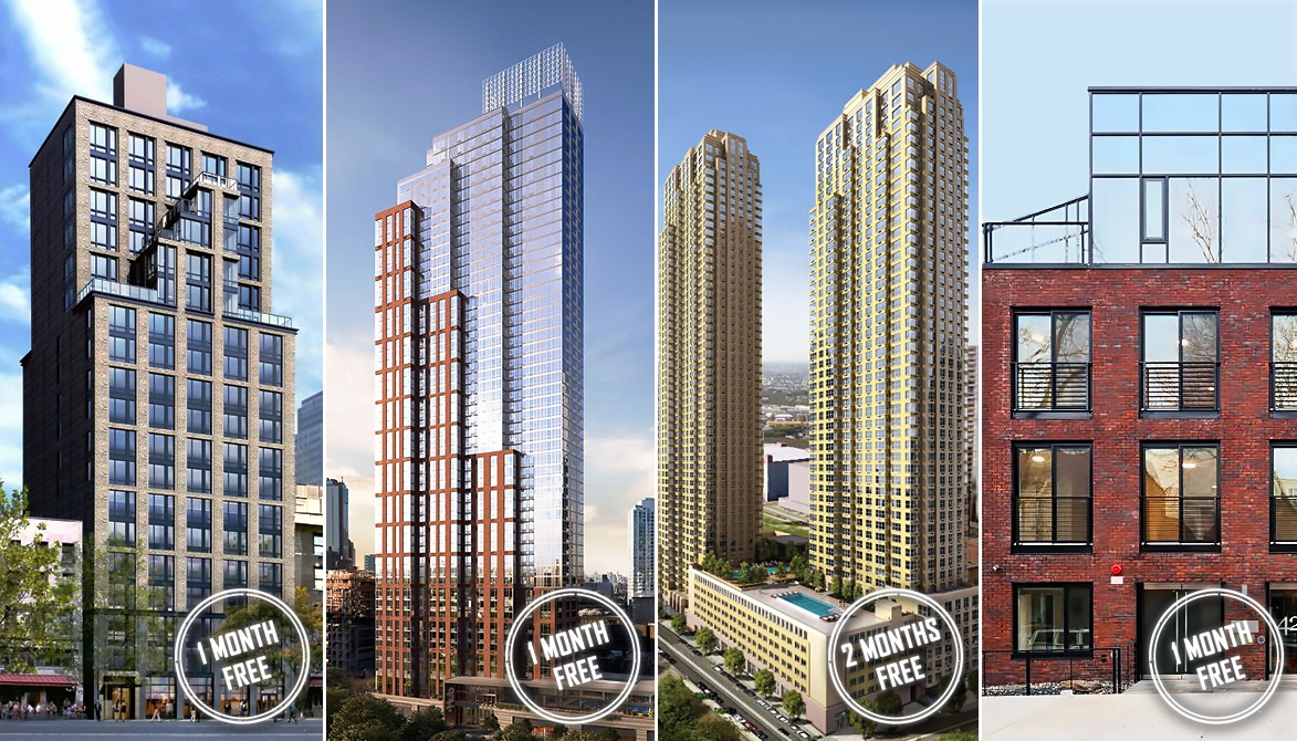 Free rent this week s roundup of nyc s rental concessions for Trump tower jersey city rentals