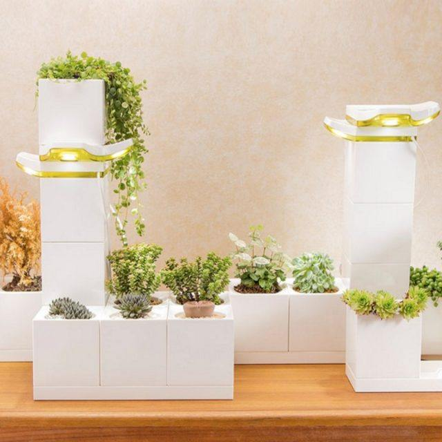 The LeGrow modular 'smart garden' is a LEGO-like system that makes indoor planting easy