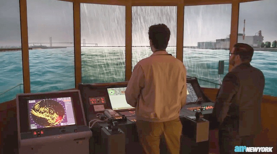 Before hitting the Harbor, NYC Ferry captains train with a boat simulator