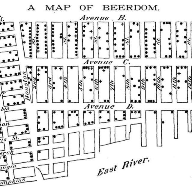 'Beerdom' map shows 19th century Lower East Siders drank more