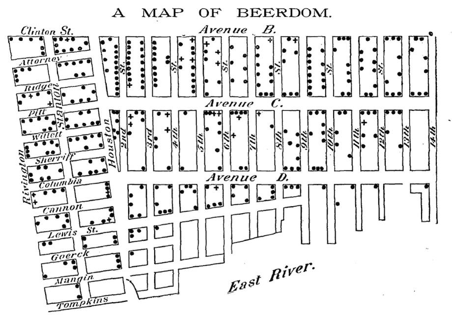 Beerdom\' map shows 19th century Lower East Siders drank more ...