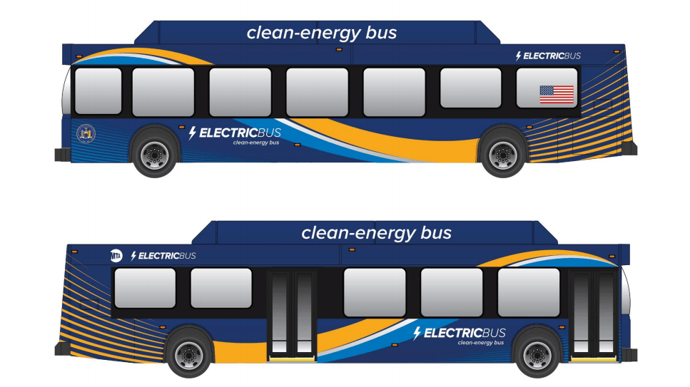 MTA electric bus, green buses, andrew cuomo