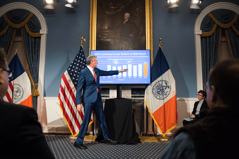 Mayor de Blasio, Fiscal Year 2018, executive budget