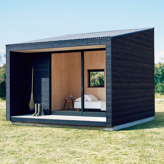 Tiny MUJI Hut offers a stylish and inexpensive option for homeowners who want another room