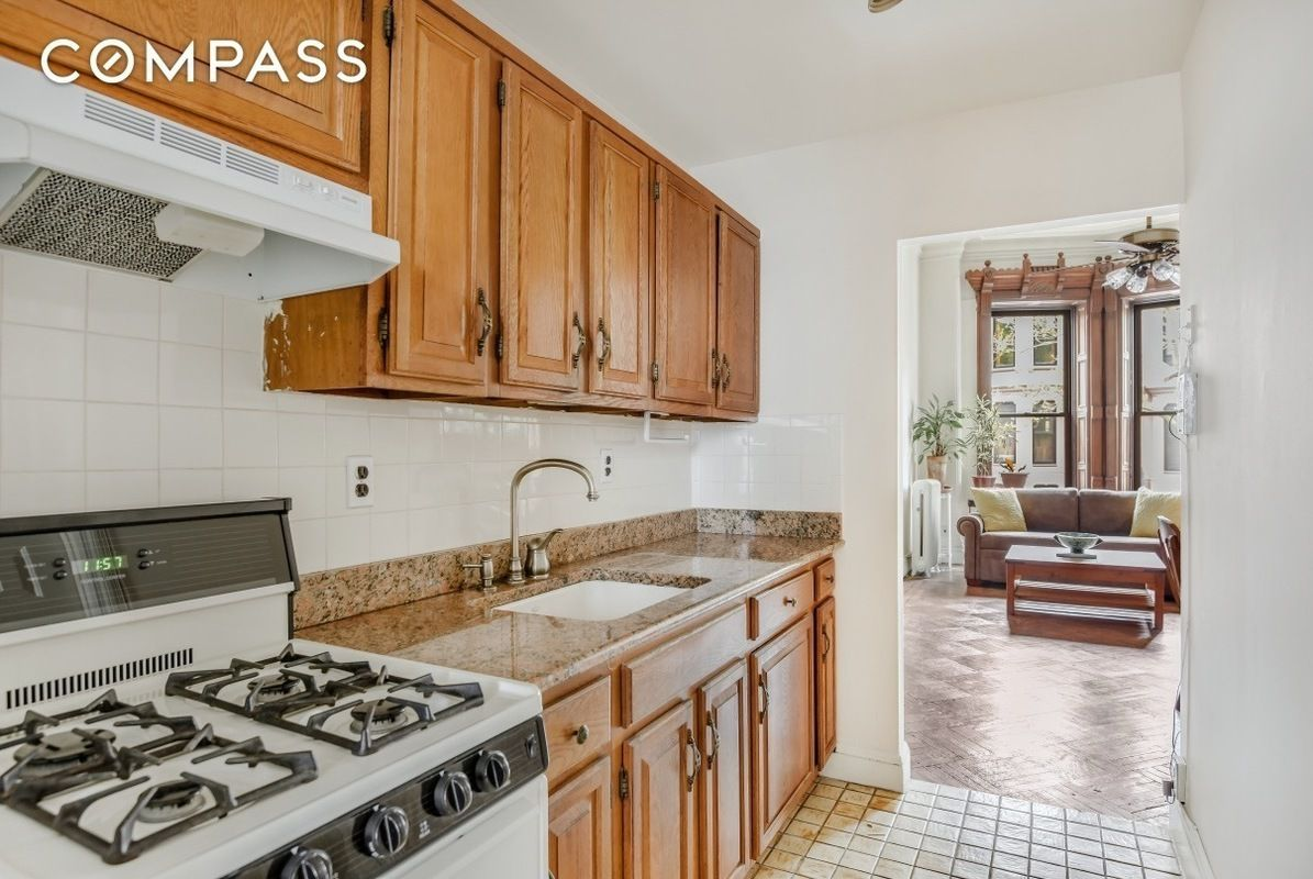 Parlor floor of an 1800s park slope brownstone is now a 1 for Floors and kitchens st john
