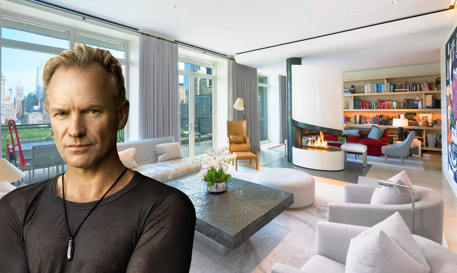Sting 39 s futuristic meets classic 15 central park west for Case vendita new york