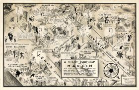 Harlem Renaissance, Map of Harlem 1932, nightlife harlem