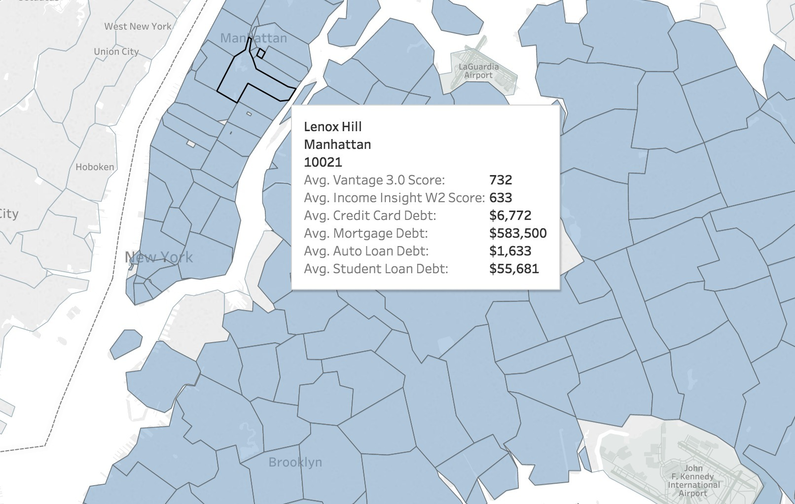 This interactive map lets you find out your neighbors finances
