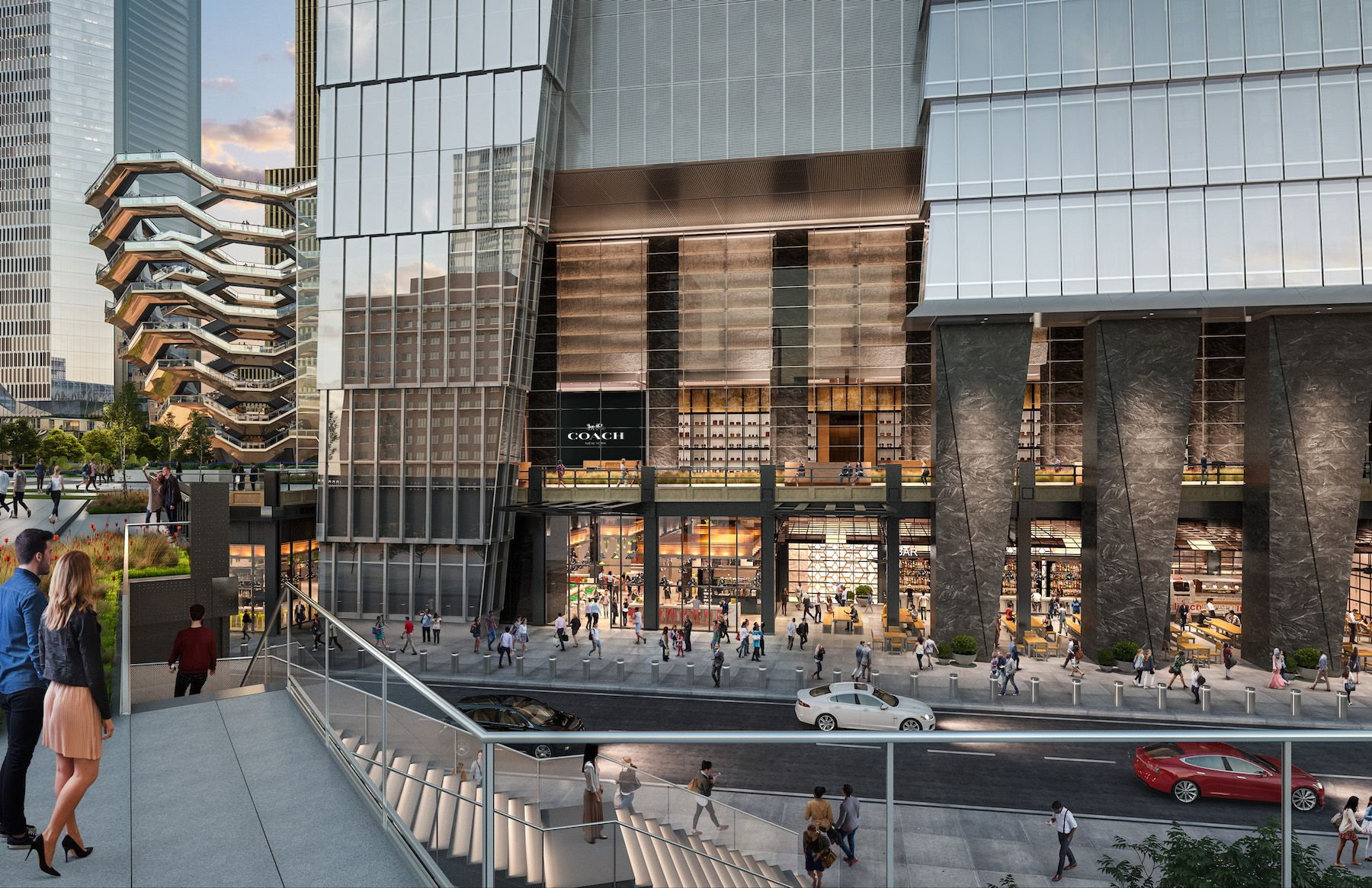 New Renderings Of Hudson Yards Retail And Restaurant Spaces