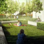 West 8, One Manhattan Square, Garden Renderings