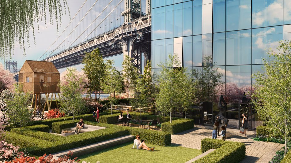 VIDEO: West 8's proposal for NYC's largest private garden at One Manhattan Square