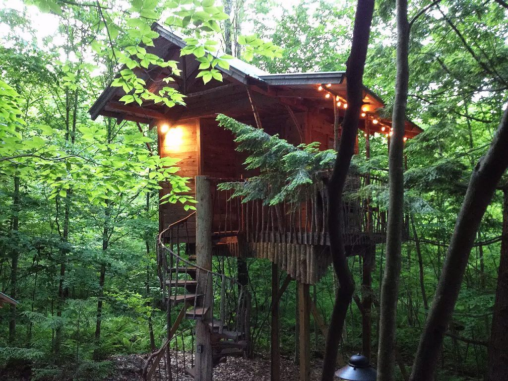 This Summer You Could Stay In An Adirondack Tree House