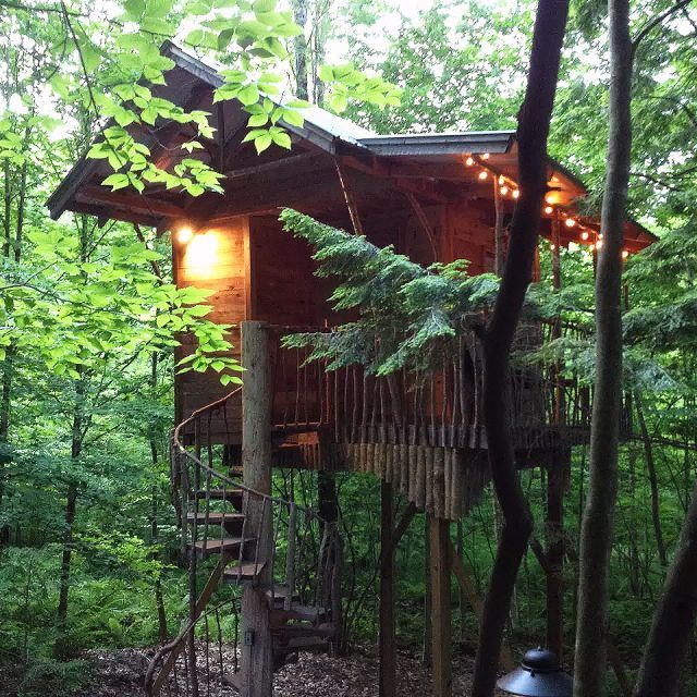 Stay in an Adirondack tree house retreat this summer