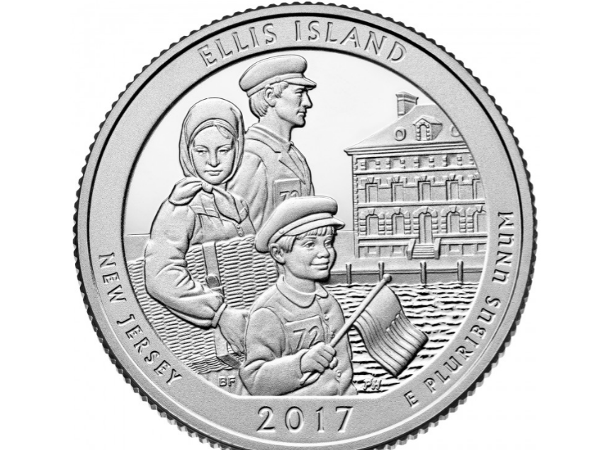 Ellis Island, NJ state coin, U.S. Mint